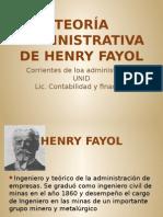 Teoria administrativa de henry y fayol