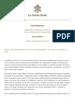 Papa Francesco 20140923 Dos Condiciones