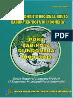 PDRB Kabupaten Kota Di Indonesia 2009-2013