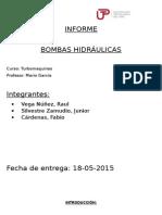 Bombas Hidráulicas Informe Para La Clase