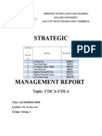 Strategy of Coca Cola Report