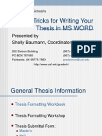 MSWord Write a Thesis 091