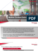 Mobile Content Delivery Platform