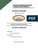Agentes y Actores Eduativos - monografia