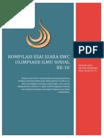 Essay Pemenang EWC OIS FISIP UI 2013 Tingkat Nasional