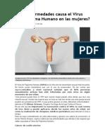 Qué Enfermedades Causa El Virus Del Papiloma Humano en Las Mujeres