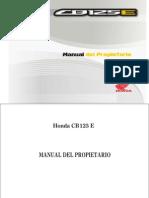 Manual de Usuario HONDA CB 125 E