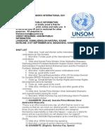 SOMALIA MARKS INTERNATIONAL DAY OF PEACE
