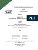 """ATPS Anhanguera - Etapa 3 e 4 - D Proc do Trabalho - 150611 - """"Resposta do réu; Prazos processuais; Disposições processuais preliminares""""."""