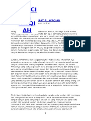 Kunci Pembuka Surat Al Waqiah