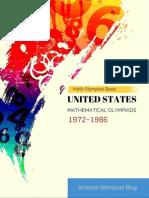 USA Mathematical Olympiad (1972-1986)