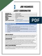 Job Advertisement - Project Coordinator