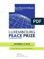 Luxembourg Peace Prize 2015 - full programme