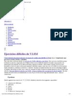 Ejercicios de VLSM Difíciles
