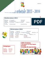 Elevernas Arbetsår 2015-2016 Ny Version