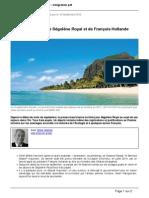 Gaetner, Gilles - Les Étranges Liens de Ségolène Royal Et François Hollande Avec l'Île Maurice (Atlantico 2015)