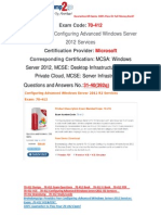 [FREE]Braindump2go 70-412 Exam Questions Download 31-40