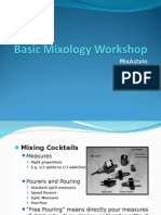 Basic Mixology Workshop