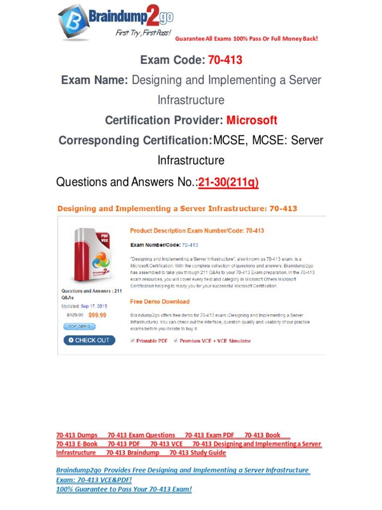 Exam Ref 70-413 Pdf