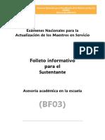 Bf03 Asesoria Academica en La Escuela