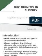Allergic Rhinitis in Elderly