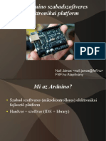 Az Arduino Szabadszoftveres Elektronikai Platform