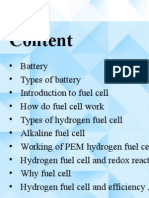 Hydrogen Fuel Cell Battery