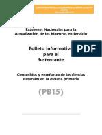Pb15 Ciencias Naturales Primaria
