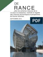 France Evaluation de Certaines Mesures de La Loi Macron
