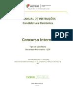 Manual de Instruções – Candidatura Eletrónica Concurso Interno – Candidato Tipo QZP - 2015