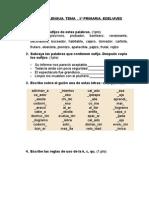 204010197 Examen de Lengua Tema 5⺠Primaria Edelvives