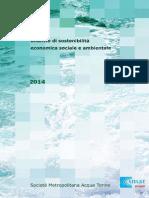Bilancio Di Sostenibilita Smat 2014