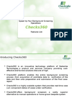 Checks360- Features Doc