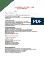Directii Generale de Cercetare 2015