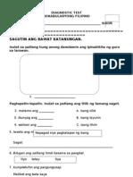 Diagnostic Test Sa Filipino