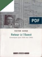 Retour a l'Ouest - Serge, Victor.epub