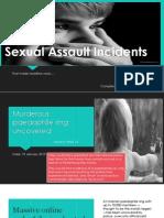 Sexual Assault Incidents