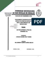 PROCEDIMIENTO CONSTRUCTIVO EN EL MONTAJE DE ESTRUCTURA METALICA