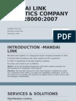 Mandai Link Logistics Company – Iso 28000
