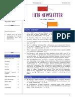 IIIT B Newsletter November 10