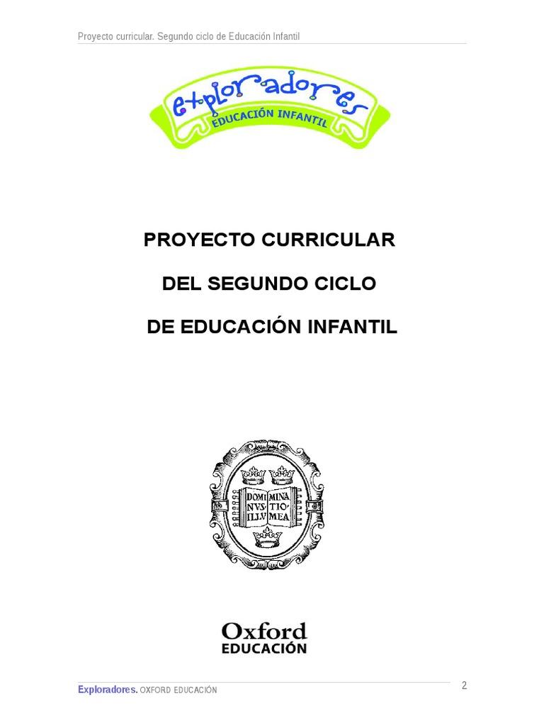 Proyecto Curricular Exploradores Infantil