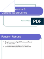 7 - Function Returns & Generic Subroutines