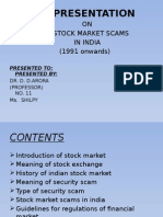 Presentation  on scam in stock market