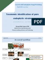 Huong Workshop Taxonomic Identification 9.2014