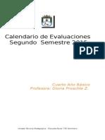 Calendario de Evaluaciones Cuarto