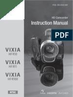 Canon HFR10 11 HFR100 Manual