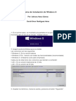 Pasos Del Programa de Instalaci n de Windows 8