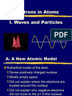 Electrons in Atoms - I Waves and Particles