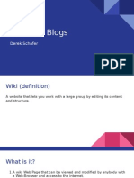schafer - wikis vs  blogs