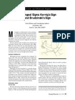 Meningeal Sign